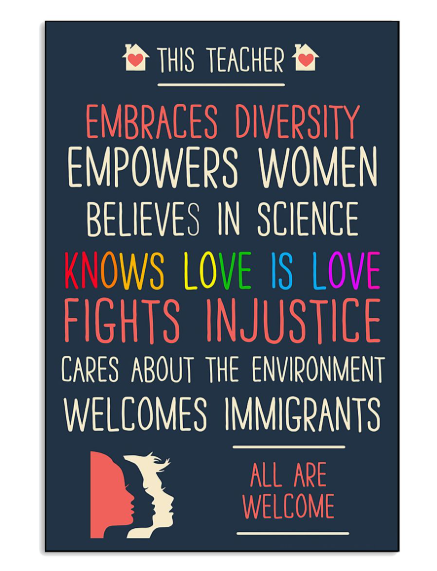 This teacher embraces diversity empowers women believe in science poster