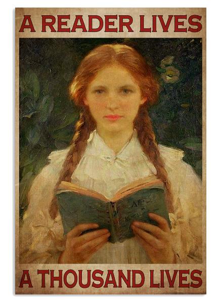 A reader lives a thousand lives poster