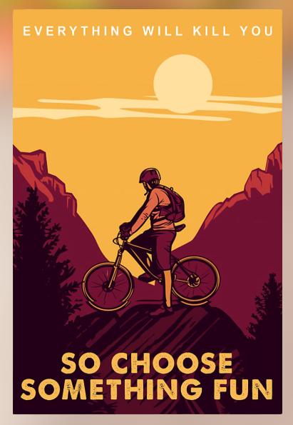 Mountain bike journey everthing will kill you so choose something fun poster