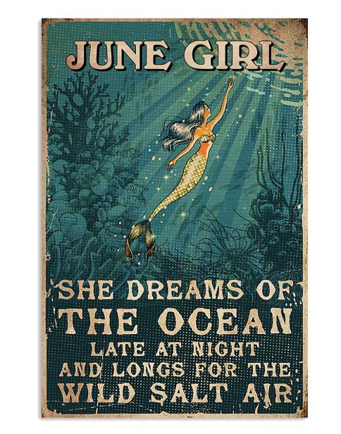 June girl she dreams of the ocean poster