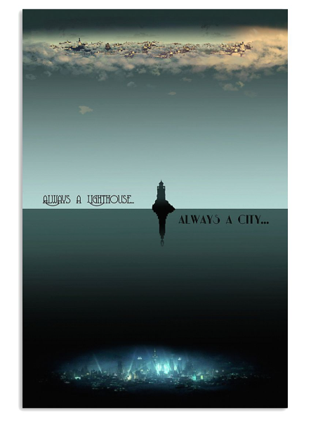 Always a lighthouse always a city poster