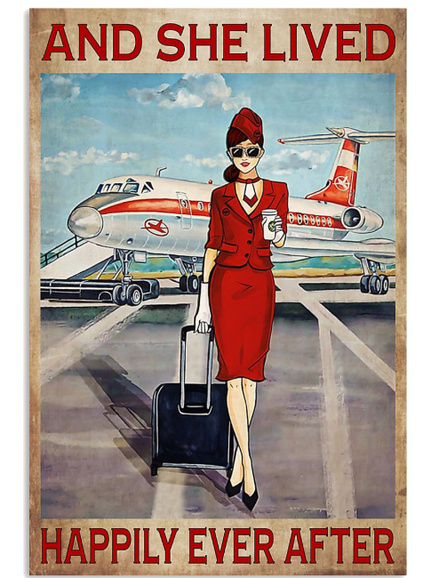 Poster flight attendant she lived happily ever after