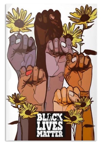 Sunflower black lives matter poster