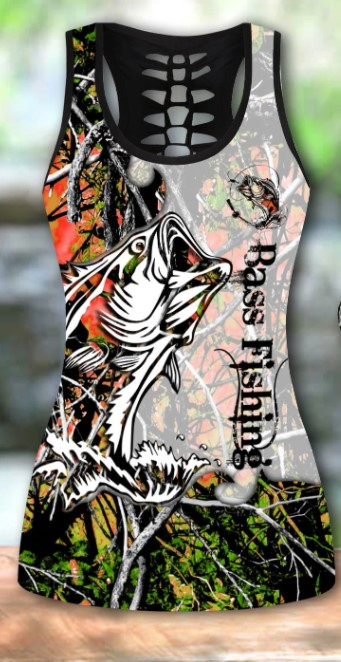 Bass fishing legging and tank top2