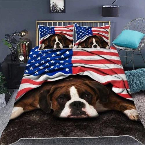 Boxer American patriot bedding set2
