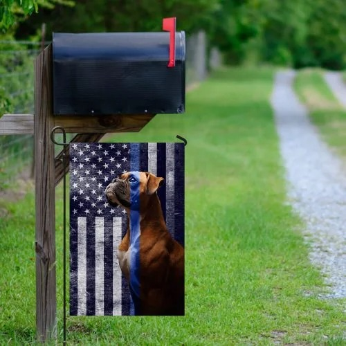 Boxer the thin blue line American US flag2