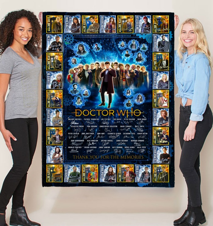 Doctor who signatures thank you for the memories blanket 1