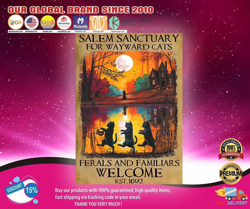 Halloween Salem sanctuary for wayward cats ferals and familiars poster1