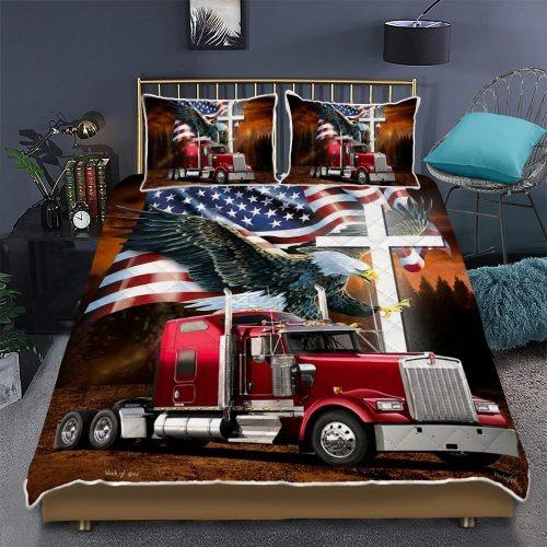 Jesus American eagle trucker quilt bedding set2