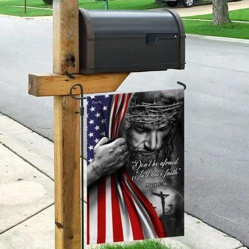 Jesus christian dont be afraid flag3
