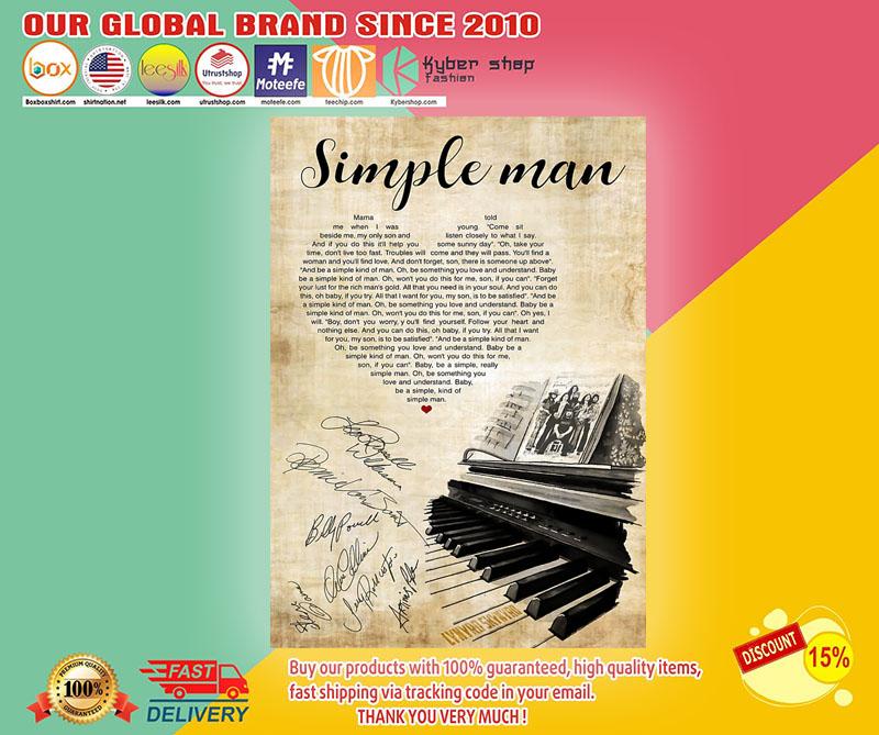 Lynyrd Skynyrd Simple Man lyrics Poster1