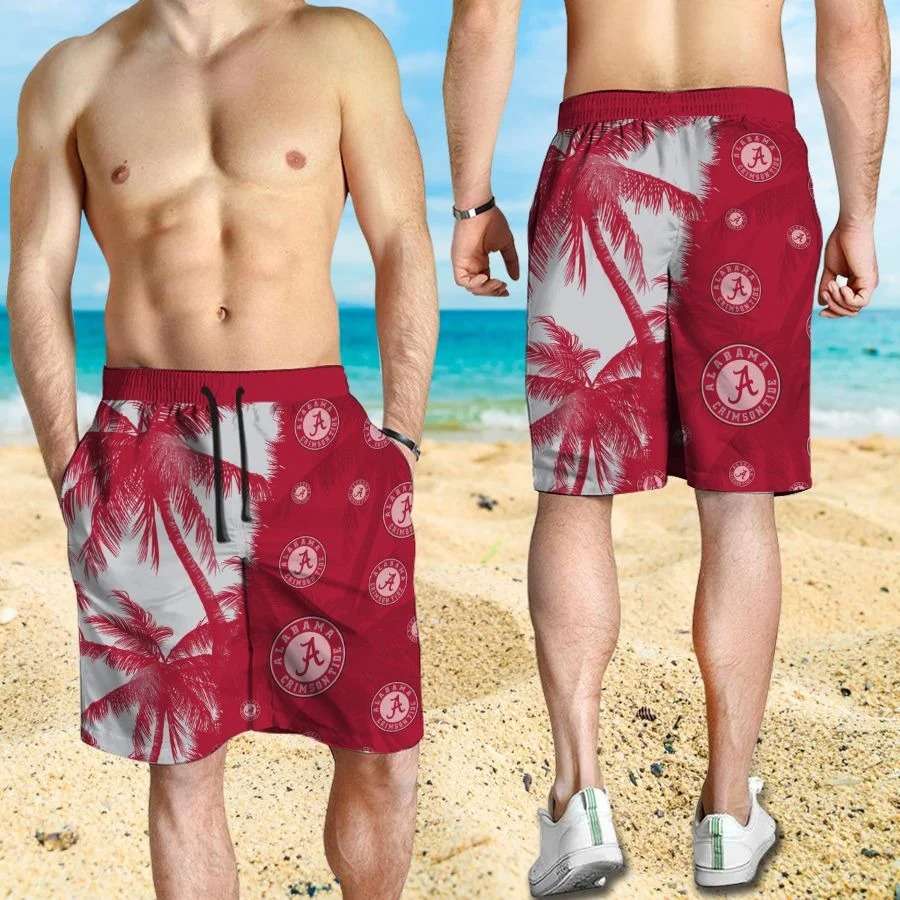 Mickey Mouse Alabama Crimson Tide hawaiian shirt and beach short 3
