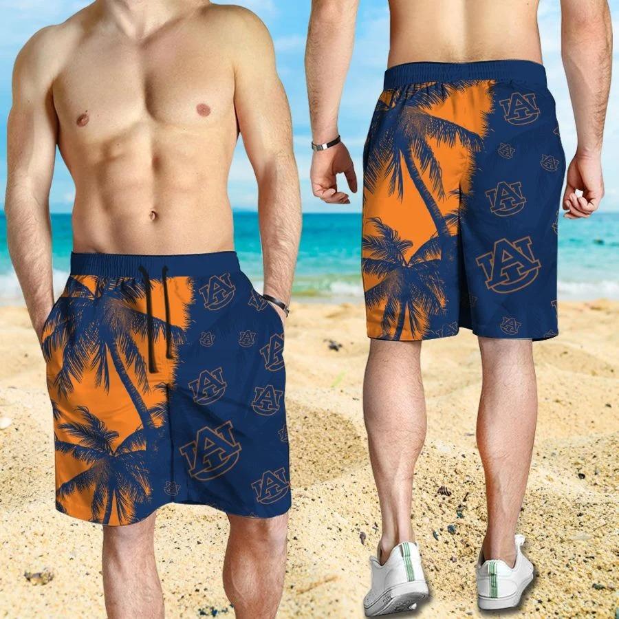 Mickey Mouse Auburn Tigers hawaiian shirt and beach short 3