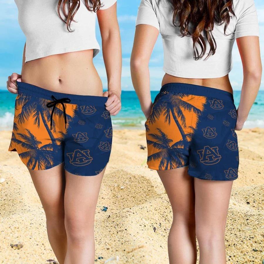 Mickey Mouse Auburn Tigers hawaiian shirt and beach short 4
