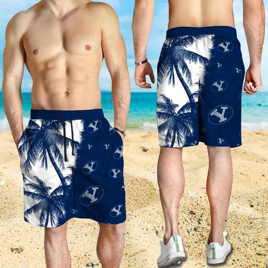 Mickey Mouse Byu Cougars hawaiian shirt and beach short 3