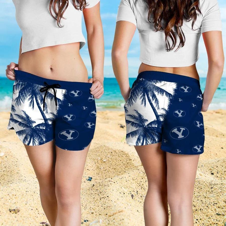 Mickey Mouse Byu Cougars hawaiian shirt and beach short 4