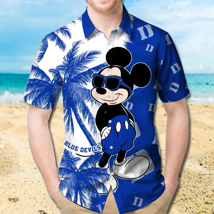 Mickey Mouse Duke Blue Devils hawaiian shirt and beach short 1