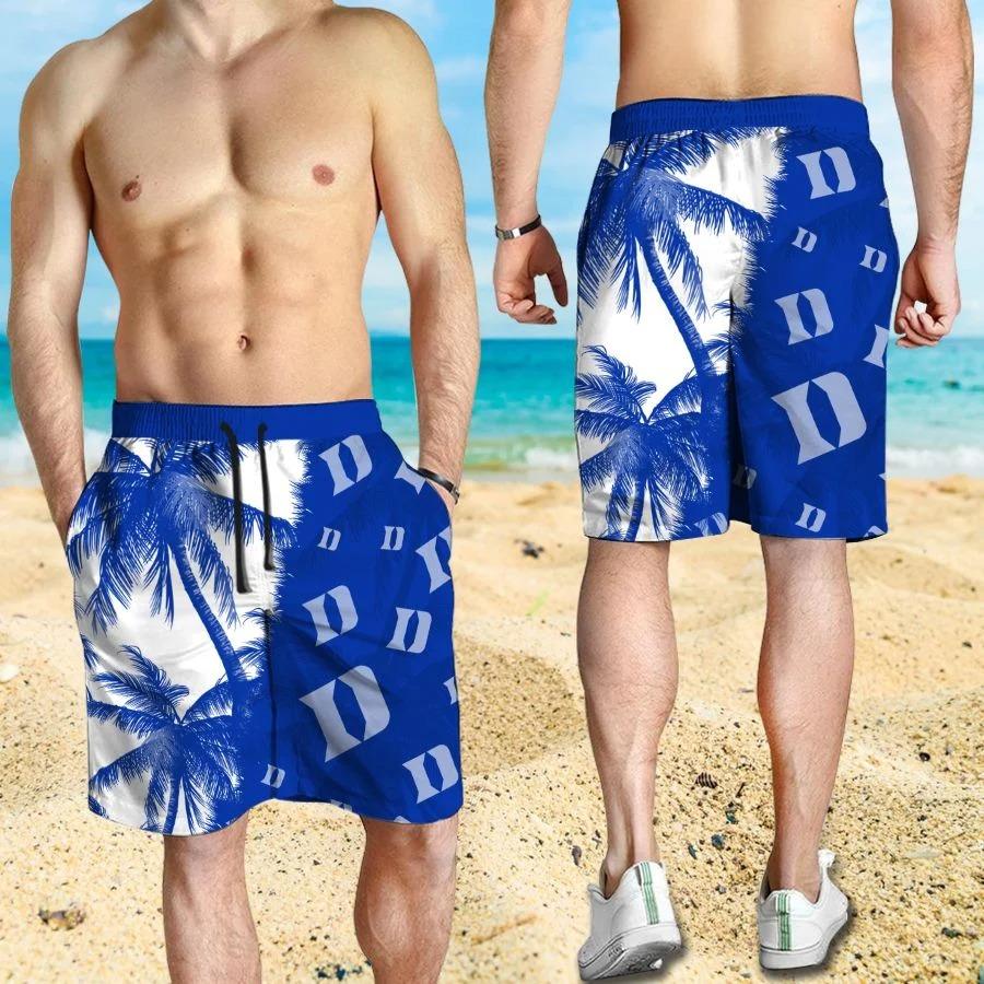 Mickey Mouse Duke Blue Devils hawaiian shirt and beach short 3