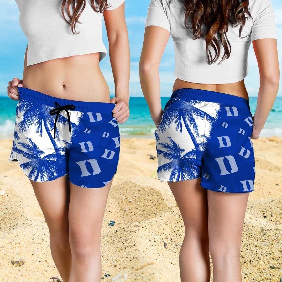Mickey Mouse Duke Blue Devils hawaiian shirt and beach short 4