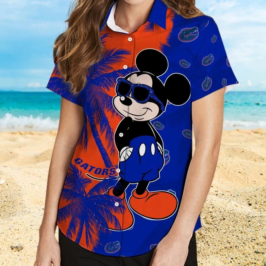 Mickey Mouse Florida Gators hawaiian shirt and beach short 2