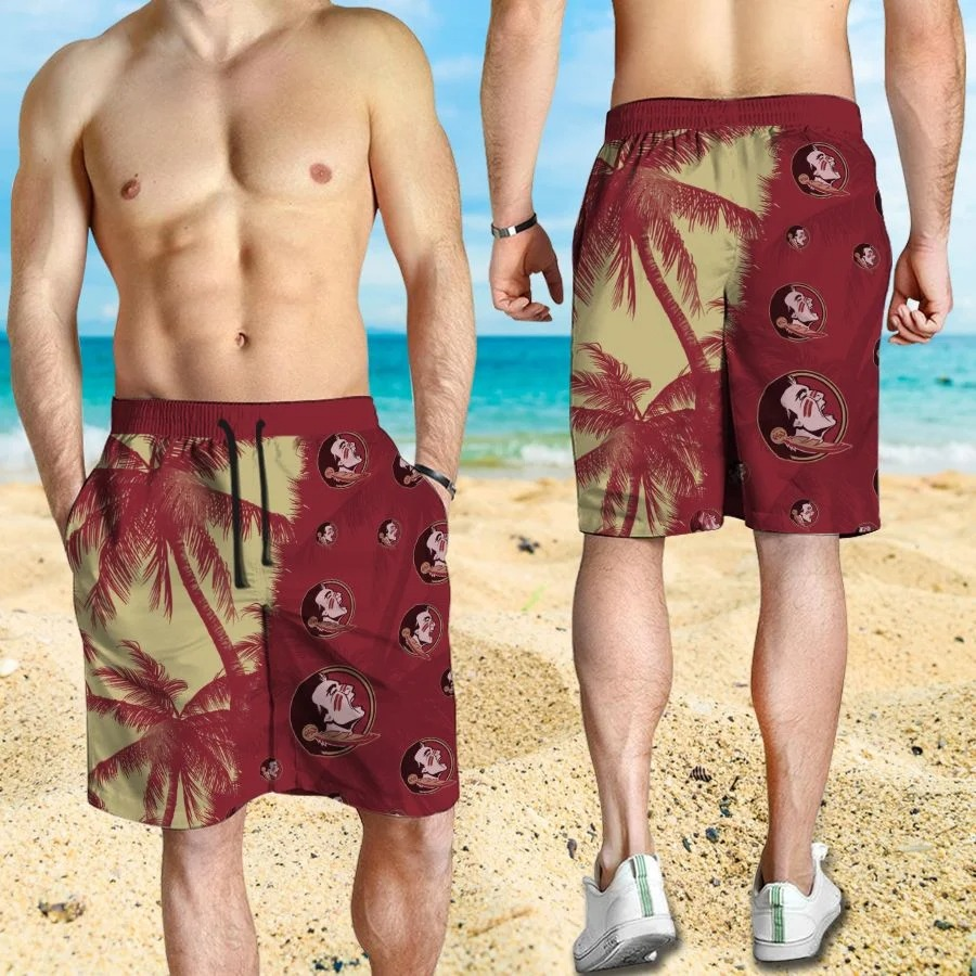 Mickey Mouse Florida State Seminoles hawaiian shirt and beach short 3