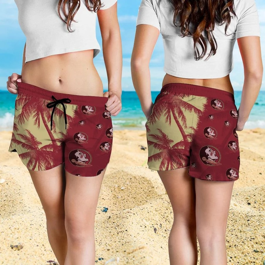 Mickey Mouse Florida State Seminoles hawaiian shirt and beach short 4