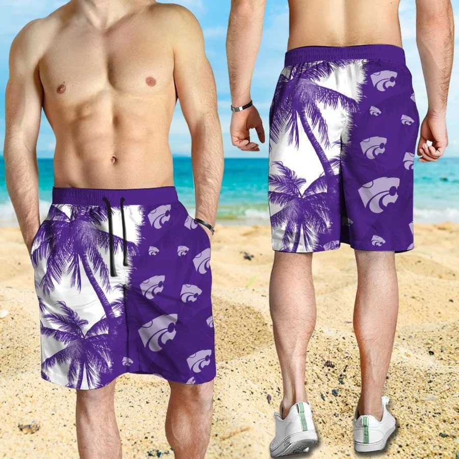Mickey Mouse Kansas State Wildcats hawaiian shirt and beach short 3