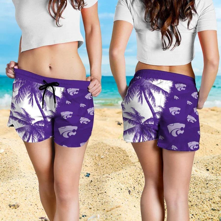 Mickey Mouse Kansas State Wildcats hawaiian shirt and beach short 4