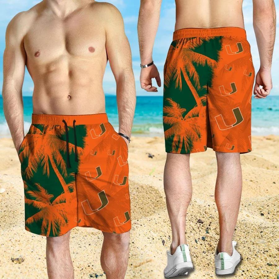 Mickey Mouse Miami Hurricanes hawaiian shirt and beach short 3