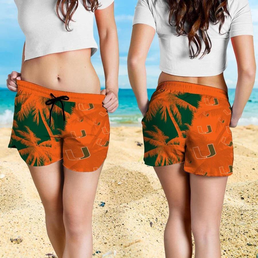 Mickey Mouse Miami Hurricanes hawaiian shirt and beach short 4