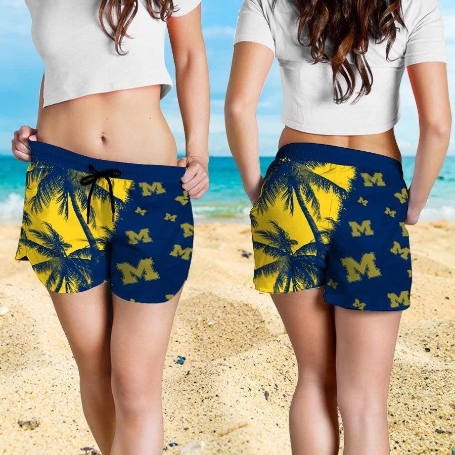 Mickey Mouse Michigan Wolverines hawaiian shirt and beach short 4