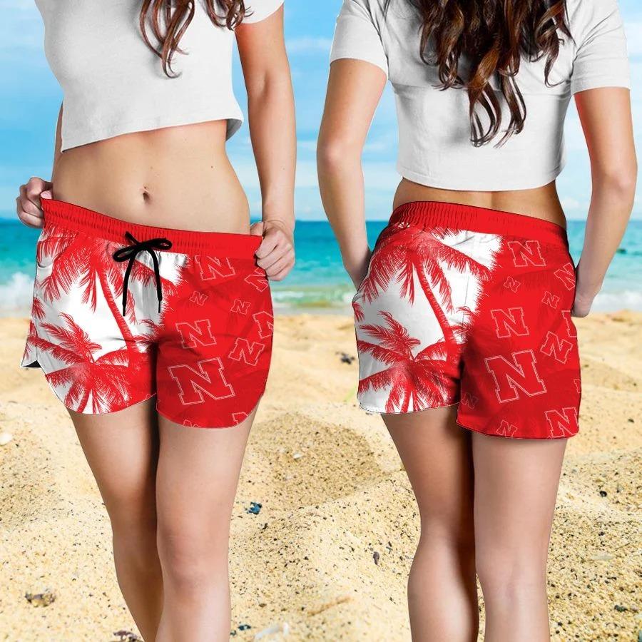 Mickey Mouse Nebraska Cornhuskers hawaiian shirt and beach short 4