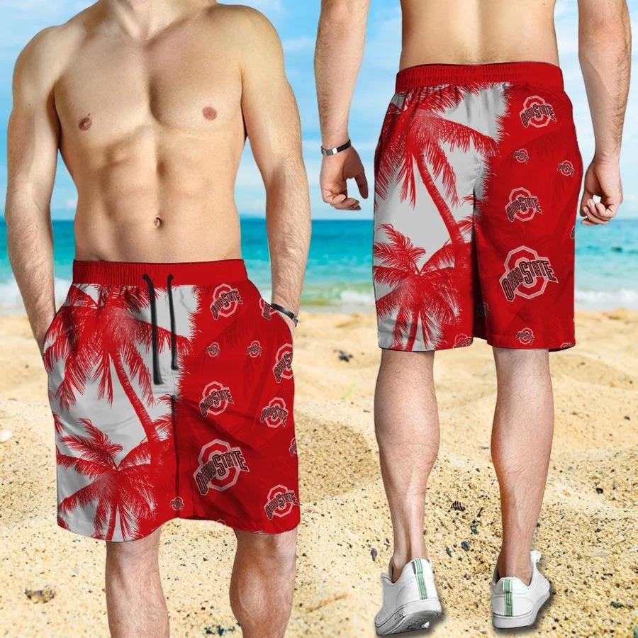 Mickey Mouse Ohio State Buckeyes hawaiian shirt and beach short 3