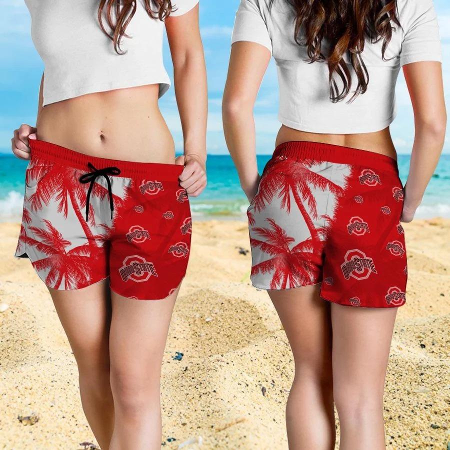 Mickey Mouse Ohio State Buckeyes hawaiian shirt and beach short 4