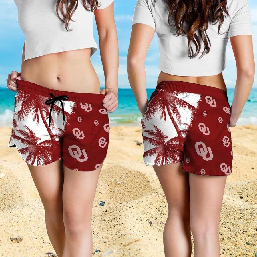 Mickey Mouse Oklahoma Sooners hawaiian shirt and beach short 4