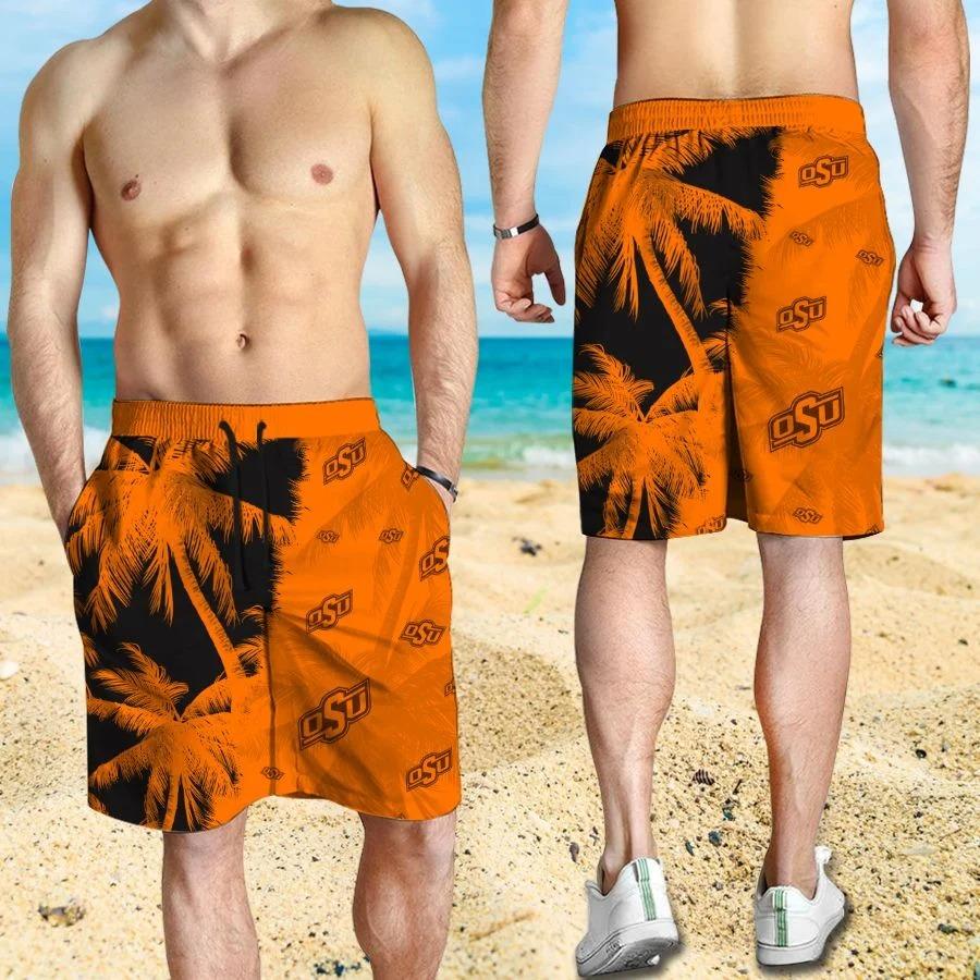 Mickey Mouse Oklahoma State Cowboys hawaiian shirt and beach short 3