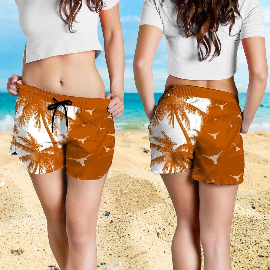 Mickey Mouse Texas Longhorns hawaiian shirt and beach short 4
