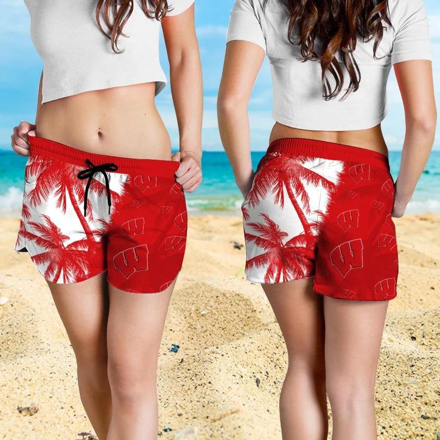Mickey Mouse Wisconsin Badgers hawaiin shirt vs beach short 4