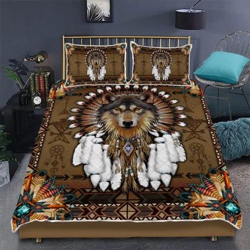 Native american wolf spirit bedding set2