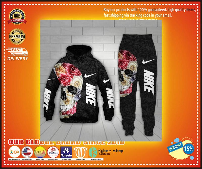 Nike skull 3d hoodie and long pant 1