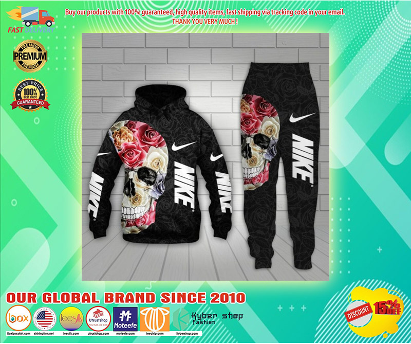 Nike skull 3d hoodie and long pant 2