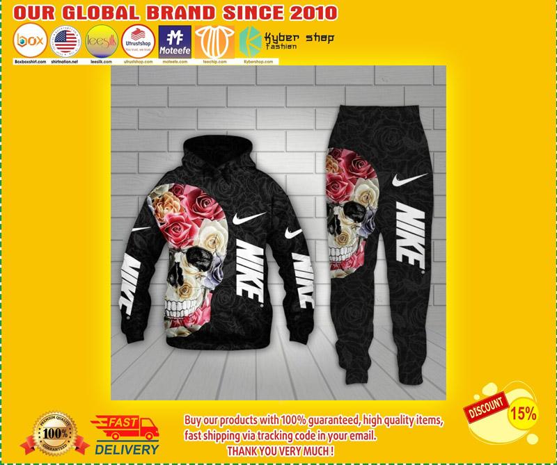 Nike skull 3d hoodie and long pant 3