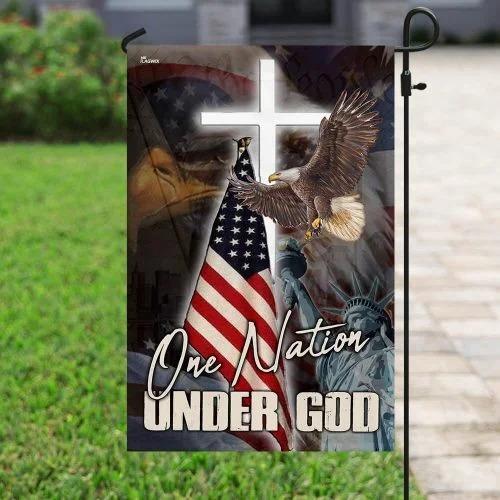 One nation under god eagle American flag2