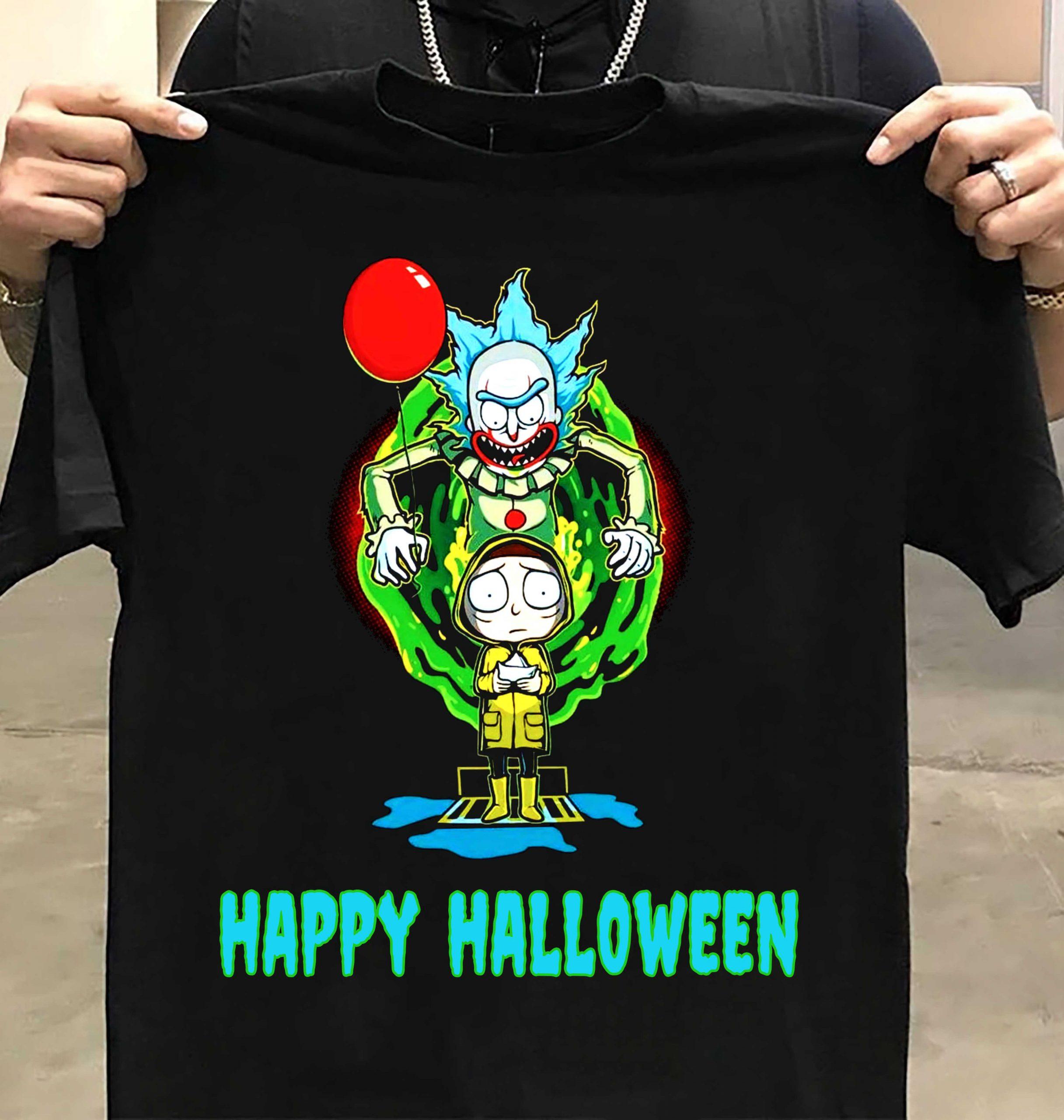 Rick And Morty Happy Halloween Shirt