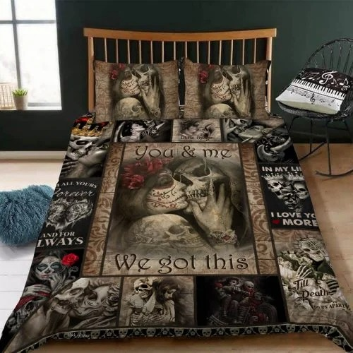 Skull You and me we got this quilt bedding set2
