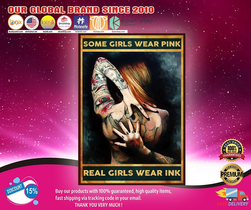 Tattoos some girls wear pink real girls wer ink poster1