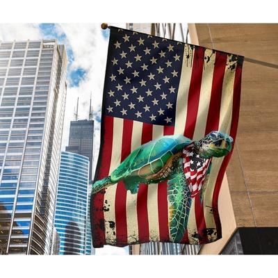 Turtle American US flag2