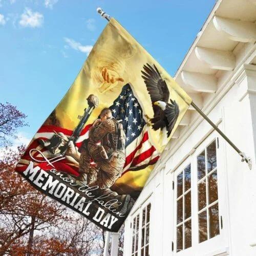 Veteran eagle American honor the fallen memorial day flag2
