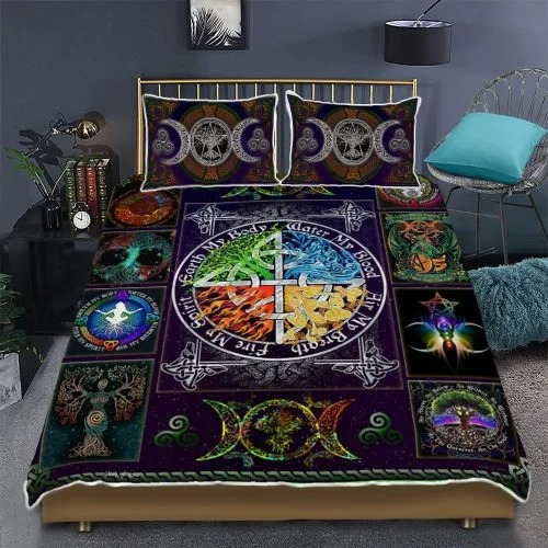 Wiccan witch pagan quilt bedding set2 1
