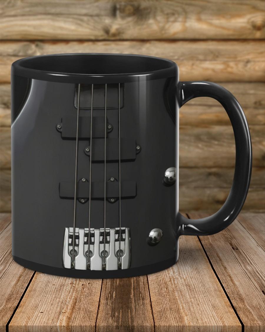 Bass Guitar Black Strings mug